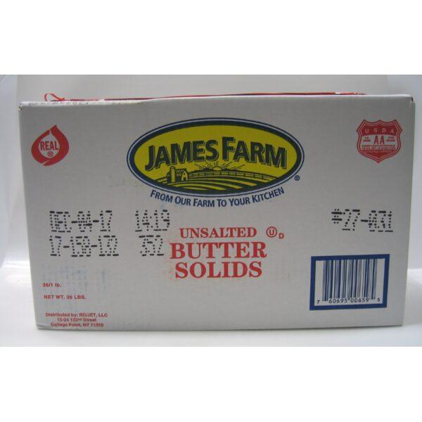 BUTTER- Unsalted James Farm 3lbs