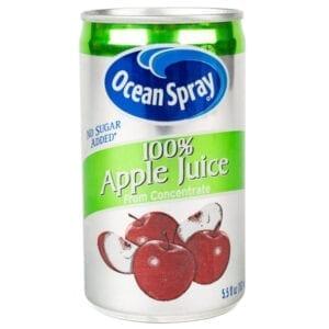 Apple juice cans ocean spray