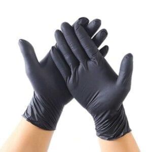 GLOVES- Nitrile Black Powder Free (Large, XL) 100ct