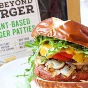 BEYOND BURGER- 4oz Protein Patties Beyond Plant Based Meat Frozen 10lbs Box